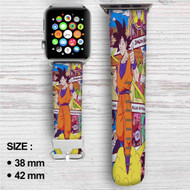 Goku With Kintoun Dragon Ball Z Custom Apple Watch Band Leather Strap Wrist Band Replacement 38mm 42mm