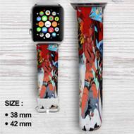 Gunner Yoko Gurren Lagann Custom Apple Watch Band Leather Strap Wrist Band Replacement 38mm 42mm