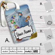 Snoopy The Peanuts Gang With Snowball Custom Leather Luggage Tag