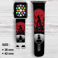Itachi Uchiha Clan Naruto Shippuden Custom Apple Watch Band Leather Strap Wrist Band Replacement 38mm 42mm