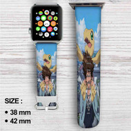 Taichi Yagami and Agumon Digimon Custom Apple Watch Band Leather Strap Wrist Band Replacement 38mm 42mm