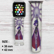 Teen Titan's Raven Custom Apple Watch Band Leather Strap Wrist Band Replacement 38mm 42mm