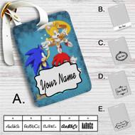 Sonic Knuckles Custom Leather Luggage Tag