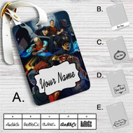 Young Justice Superhero Custom Leather Luggage Tag