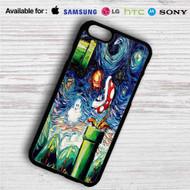 Super Mario Starry Night iPhone 4/4S 5 S/C/SE 6/6S Plus 7  Samsung Galaxy S4 S5 S6 S7 NOTE 3 4 5  LG G2 G3 G4  MOTOROLA MOTO X X2 NEXUS 6  SONY Z3 Z4 MINI  HTC ONE X M7 M8 M9 M8 MINI CASE