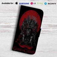Game of Thrones Star Wars Darth Vader Custom Leather Wallet iPhone 4/4S 5S/C 6/6S Plus 7| Samsung Galaxy S4 S5 S6 S7 Note 3 4 5| LG G2 G3 G4| Motorola Moto X X2 Nexus 6| Sony Z3 Z4 Mini| HTC ONE X M7 M8 M9 Case