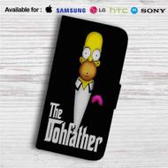 Homer Simpson Godfather Custom Leather Wallet iPhone 4/4S 5S/C 6/6S Plus 7| Samsung Galaxy S4 S5 S6 S7 Note 3 4 5| LG G2 G3 G4| Motorola Moto X X2 Nexus 6| Sony Z3 Z4 Mini| HTC ONE X M7 M8 M9 Case