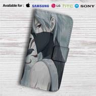 Kakashi Hatake Naruto Shippuden Custom Leather Wallet iPhone 4/4S 5S/C 6/6S Plus 7| Samsung Galaxy S4 S5 S6 S7 Note 3 4 5| LG G2 G3 G4| Motorola Moto X X2 Nexus 6| Sony Z3 Z4 Mini| HTC ONE X M7 M8 M9 Case