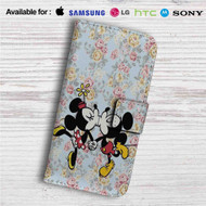 Mickey Mouse and Minnie Mouse Pattern Custom Leather Wallet iPhone 4/4S 5S/C 6/6S Plus 7| Samsung Galaxy S4 S5 S6 S7 Note 3 4 5| LG G2 G3 G4| Motorola Moto X X2 Nexus 6| Sony Z3 Z4 Mini| HTC ONE X M7 M8 M9 Case