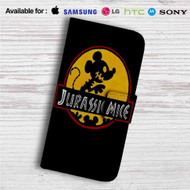 Mickey Mouse Jurassic Mice Custom Leather Wallet iPhone 4/4S 5S/C 6/6S Plus 7| Samsung Galaxy S4 S5 S6 S7 Note 3 4 5| LG G2 G3 G4| Motorola Moto X X2 Nexus 6| Sony Z3 Z4 Mini| HTC ONE X M7 M8 M9 Case