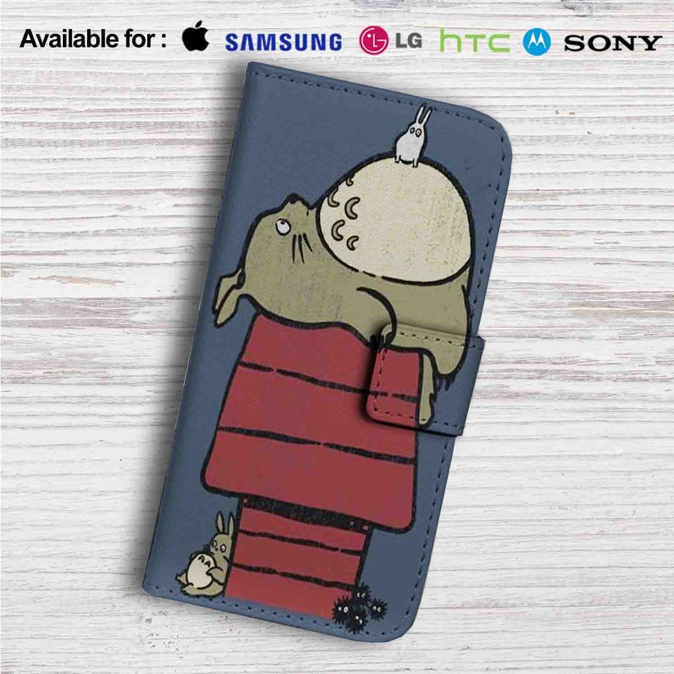 new concept 4f634 09c5e My Neighbor Totoro as Snoopy The Peanuts Custom Leather Wallet iPhone 4/4S  5S/C 6/6S Plus 7  Samsung Galaxy S4 S5 S6 S7 Note 3 4 5  LG G2 G3 G4  ...