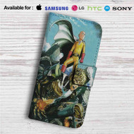 Saitama X Genos One Punch Man Custom Leather Wallet iPhone 4/4S 5S/C 6/6S Plus 7| Samsung Galaxy S4 S5 S6 S7 Note 3 4 5| LG G2 G3 G4| Motorola Moto X X2 Nexus 6| Sony Z3 Z4 Mini| HTC ONE X M7 M8 M9 Case