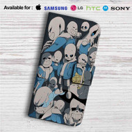 Sans Undertale Collage Custom Leather Wallet iPhone 4/4S 5S/C 6/6S Plus 7| Samsung Galaxy S4 S5 S6 S7 Note 3 4 5| LG G2 G3 G4| Motorola Moto X X2 Nexus 6| Sony Z3 Z4 Mini| HTC ONE X M7 M8 M9 Case