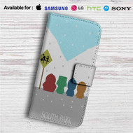 South Park Snow Custom Leather Wallet iPhone 4/4S 5S/C 6/6S Plus 7| Samsung Galaxy S4 S5 S6 S7 Note 3 4 5| LG G2 G3 G4| Motorola Moto X X2 Nexus 6| Sony Z3 Z4 Mini| HTC ONE X M7 M8 M9 Case