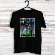 Super Mario Starry Night Custom T Shirt Tank Top Men and Woman