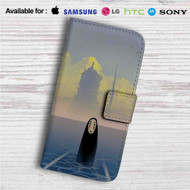 Spirited Away No Face Studio Ghibli Custom Leather Wallet iPhone 4/4S 5S/C 6/6S Plus 7  Samsung Galaxy S4 S5 S6 S7 Note 3 4 5  LG G2 G3 G4  Motorola Moto X X2 Nexus 6  Sony Z3 Z4 Mini  HTC ONE X M7 M8 M9 Case