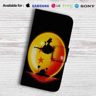 Sunset Dragon Ball Goku Custom Leather Wallet iPhone 4/4S 5S/C 6/6S Plus 7| Samsung Galaxy S4 S5 S6 S7 Note 3 4 5| LG G2 G3 G4| Motorola Moto X X2 Nexus 6| Sony Z3 Z4 Mini| HTC ONE X M7 M8 M9 Case