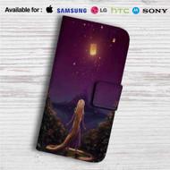 Tangled Rapunzel Light on Night Disney Custom Leather Wallet iPhone 4/4S 5S/C 6/6S Plus 7| Samsung Galaxy S4 S5 S6 S7 Note 3 4 5| LG G2 G3 G4| Motorola Moto X X2 Nexus 6| Sony Z3 Z4 Mini| HTC ONE X M7 M8 M9 Case