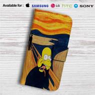 The Simpsons Scream Custom Leather Wallet iPhone 4/4S 5S/C 6/6S Plus 7| Samsung Galaxy S4 S5 S6 S7 Note 3 4 5| LG G2 G3 G4| Motorola Moto X X2 Nexus 6| Sony Z3 Z4 Mini| HTC ONE X M7 M8 M9 Case