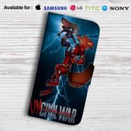 Zootopia Civil War Custom Leather Wallet iPhone 4/4S 5S/C 6/6S Plus 7| Samsung Galaxy S4 S5 S6 S7 Note 3 4 5| LG G2 G3 G4| Motorola Moto X X2 Nexus 6| Sony Z3 Z4 Mini| HTC ONE X M7 M8 M9 Case