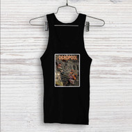 Deadpool on Train Custom Men Woman Tank Top T Shirt Shirt