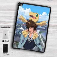 "Taichi Yagami and Agumon Digimon iPad 2 3 4 iPad Mini 1 2 3 4 iPad Air 1 2 | Samsung Galaxy Tab 10.1"" Tab 2 7"" Tab 3 7"" Tab 3 8"" Tab 4 7"" Case"