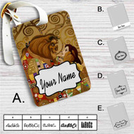 Beauty and the Beast Tale as Old As Time Custom Leather Luggage Tag
