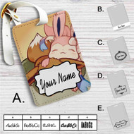 Eevee and Sylveon Pokemon Custom Leather Luggage Tag
