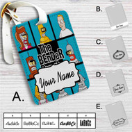 Futurama The Bender Bunch Custom Leather Luggage Tag