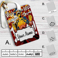 Gurren Lagann Kamina Custom Leather Luggage Tag