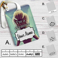 I'm a Dreamer Disney Tinkerbell Custom Leather Luggage Tag