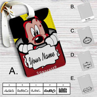 Mickey Campbells Custom Leather Luggage Tag
