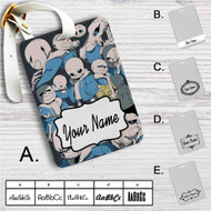 Sans Undertale Collage Custom Leather Luggage Tag