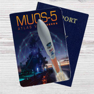 Atlas V MUOS-5 Launch Broadcast Custom Leather Passport Wallet Case Cover