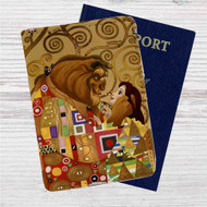 Beauty and the Beast Tale as Old As Time Custom Leather Passport Wallet Case Cover