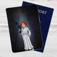 Disney Wendy Peter Pan Custom Leather Passport Wallet Case Cover