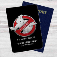 Fall Out Boy Ghostbusters ft Missy Elliot Custom Leather Passport Wallet Case Cover