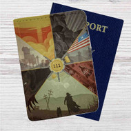 Fallout 4 111 Custom Leather Passport Wallet Case Cover