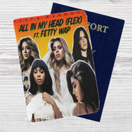Fifth Harmony feat Fetty Wap All In My Head Custom Leather Passport Wallet Case Cover