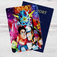 Gravity Falls and Steven Universe Custom Leather Passport Wallet Case Cover