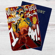 Gurren Lagann Kamina Custom Leather Passport Wallet Case Cover