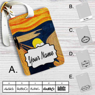 The Simpsons Scream Custom Leather Luggage Tag