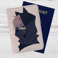 Kaneki Ken Nakigitsune Mask Tokyo Ghoul Custom Leather Passport Wallet Case Cover