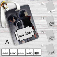 Uchiha Sasuke and Itachi Naruto Shippuden Custom Leather Luggage Tag