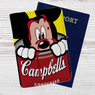Mickey Campbells Custom Leather Passport Wallet Case Cover