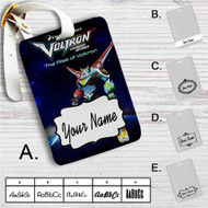 Voltron Legendary Defender The Rise of Voltron Custom Leather Luggage Tag