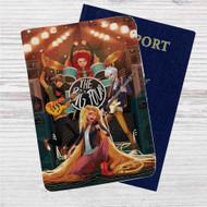 Princess Disney The Big Four Custom Leather Passport Wallet Case Cover