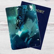 Shinya Kogami Psycho Pass Custom Leather Passport Wallet Case Cover