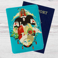 Studio Ghibli Characters Custom Leather Passport Wallet Case Cover