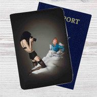 TinTin Sexual Custom Leather Passport Wallet Case Cover